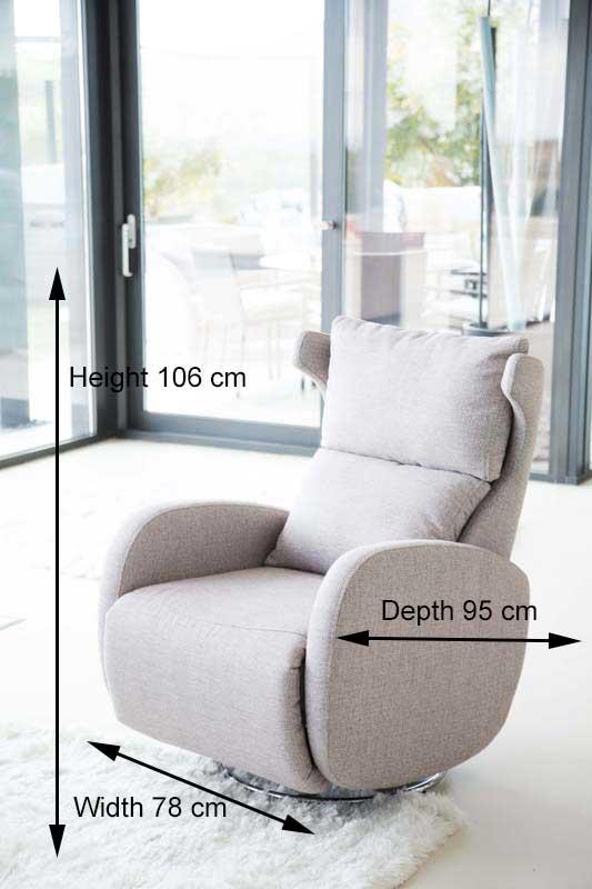 Merveilleux Fama Kim Fabric Recliner Armchair
