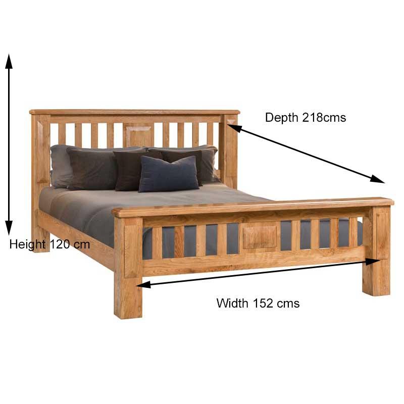 perth 4 ft 6 inch double bed frame ger gavin bedroom. Black Bedroom Furniture Sets. Home Design Ideas
