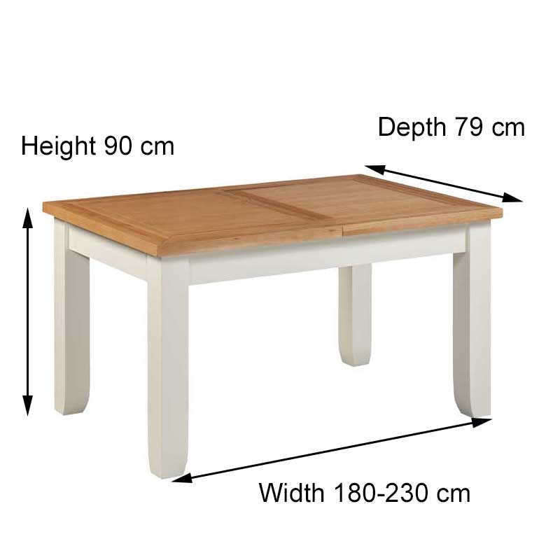 Felixstowe Large Extendable Dining Table