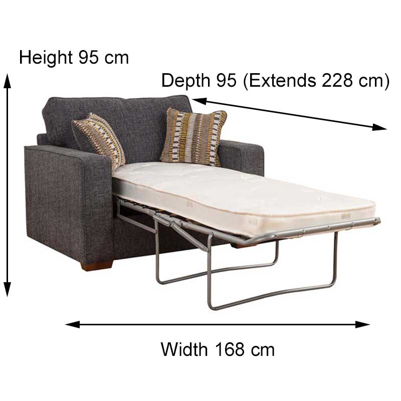 Chicago 2 Seater Sofa Bed