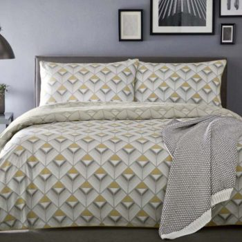 Appletree Axis Yellow King Duvet Cover