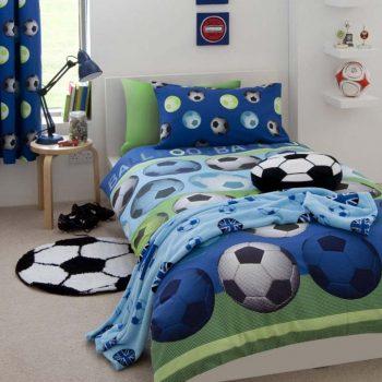 Catherine Lansfield Football Blue Duvet Cover