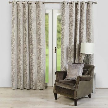 Scatterbox Jasmine Silver 66 x 90 Curtains
