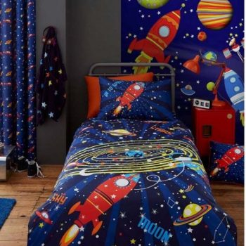 Catherine Lansfield Outer Space 2 Single Duvet Cover