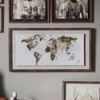 Accessories archives ger gavin bedroom furniture dining 27500 more details gold foil world map framed art gumiabroncs Image collections