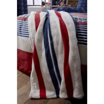Catherine Lansfield Stars and Stripes Blanket