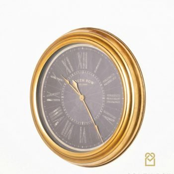 Amelia Gold Wall Clock