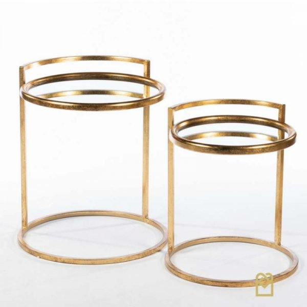 Amelia 2 side mirrored tables