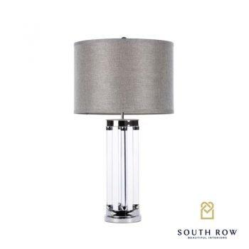 Venus table lamp textured grey shade 74cm