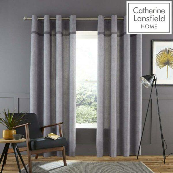 melville woven texture grey curtains 66x72 eyelet