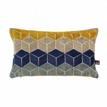 Scatter Box Lennox 35x50cm Cushion, Navy/Ochre