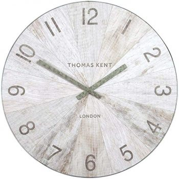 Thomas Kent 22'' Wharf Wall Clock - Pickled Oak