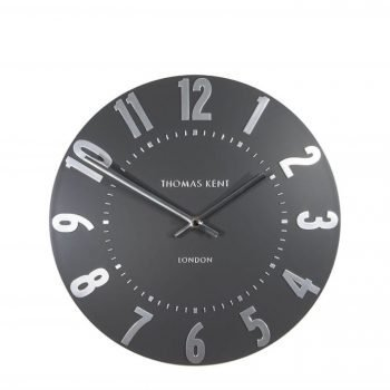 30cm Graphite Silver Mulberry Wall Clock