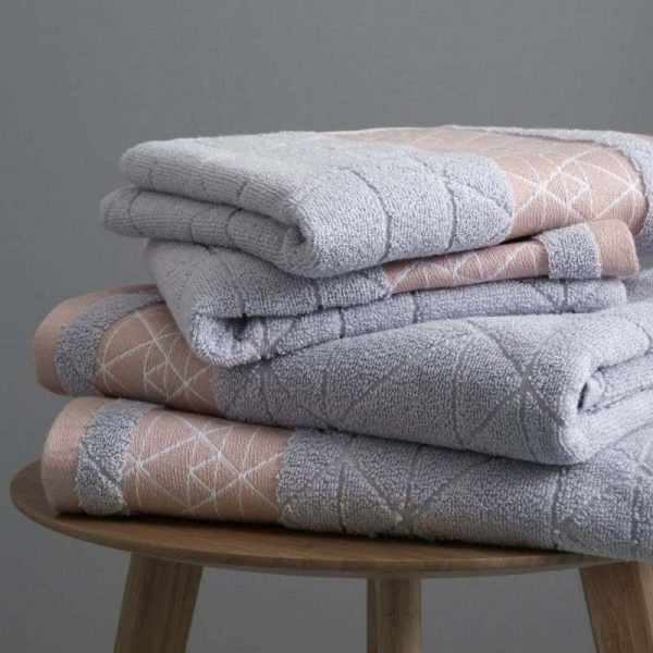 Catherine Lansfield Diamond Blush Towel Range
