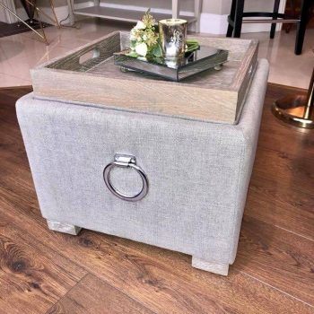 Footstool & Tea Tray with Storage is a clever storage features include a storage footstool with a hidden reversible tray, along with a lift-up storage chaise perfect for tidying away all of your living room accessories.