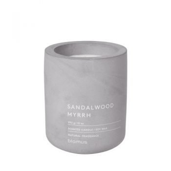 Large Blomus Scented Sandalwood Myrrh Candle