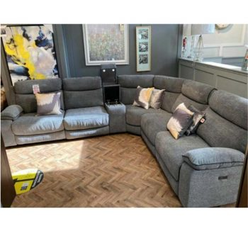 Oakland Grey Corner Electric Sofa