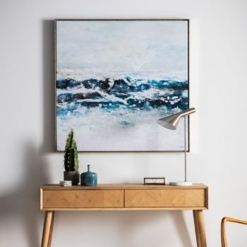Pacific Ocean Waves Framed Art
