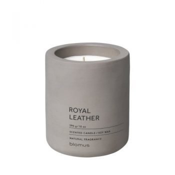 Large Blomus Scented Royal Leather Candle