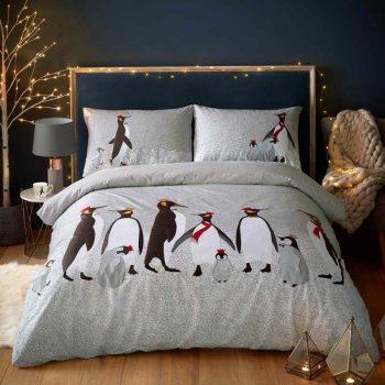 Sara Miller Christmas Penguin Duvet Set