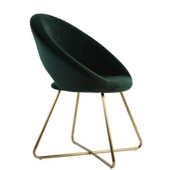 Charlie Dark Velvet Green Chair