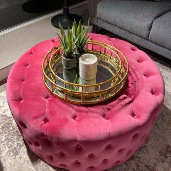 Large Button Footstool