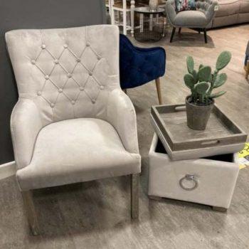 Sarah Light Grey Chair