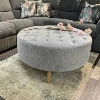 Large Button Footstool with Legs