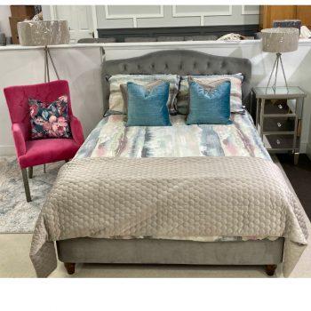 Louisa 4'6' Double fabric bedframe