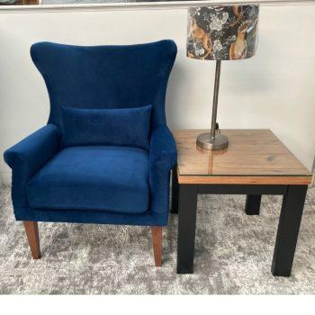Myron Navy Armchair