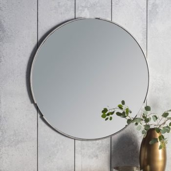 Fitzroy Round Silver Mirror