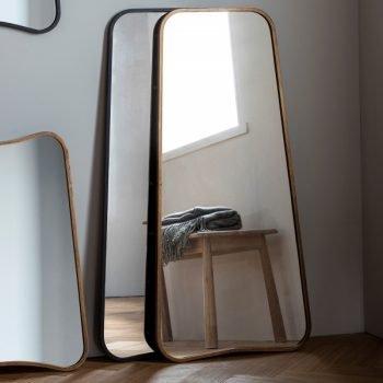 Kurva Gold Leaner Mirror